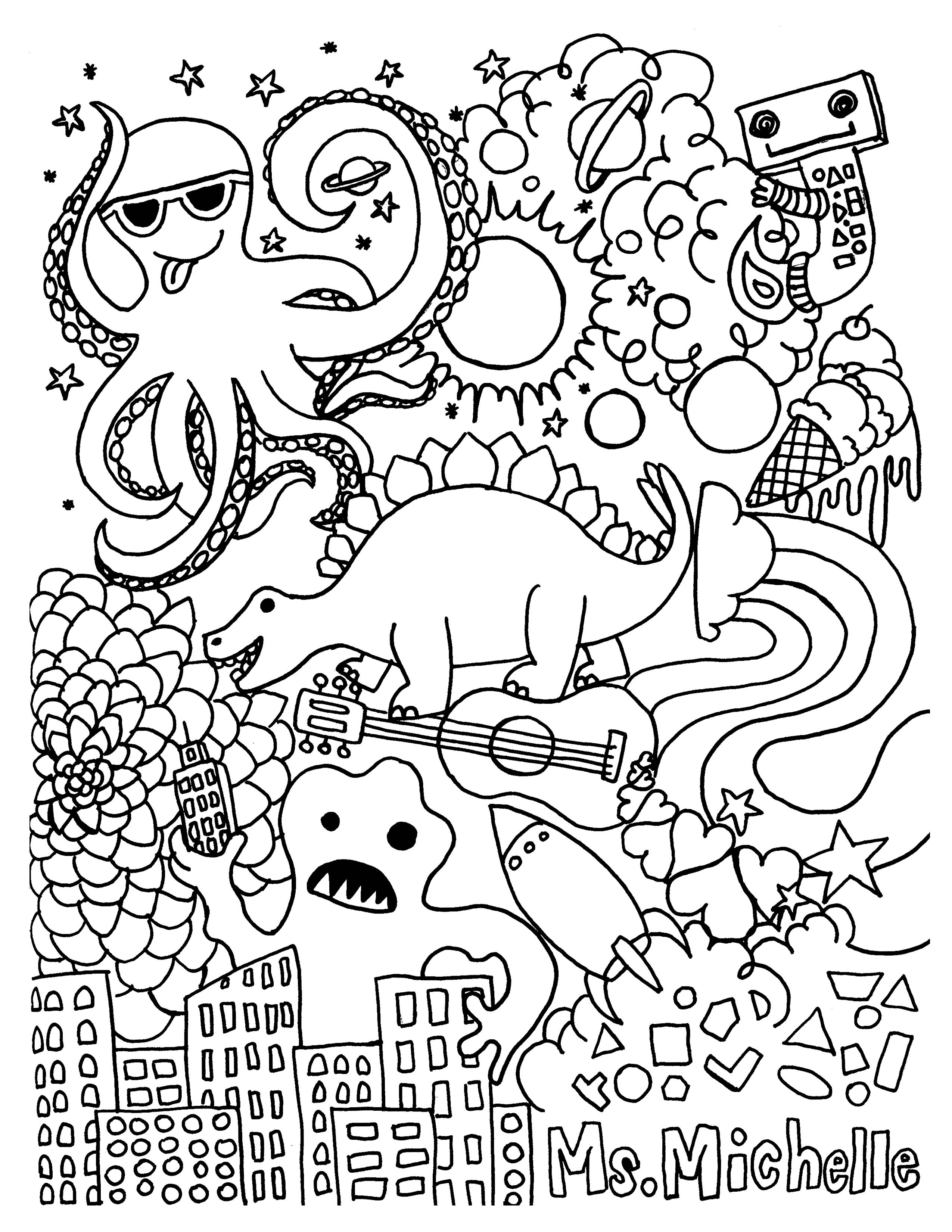 Spring Coloring Pages For First Grade
