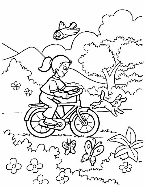 Spring Season Colouring Pages