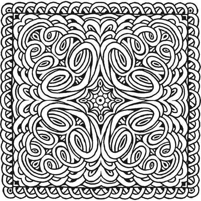 Square Mandala Coloring Pages At Getcolorings Com Free