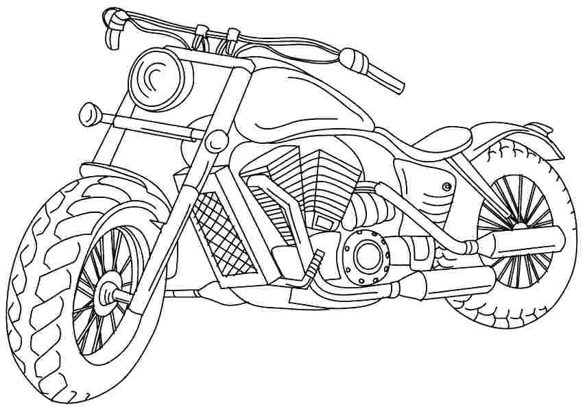 Street Bike Coloring Pages At Getcolorings Com Free Printable
