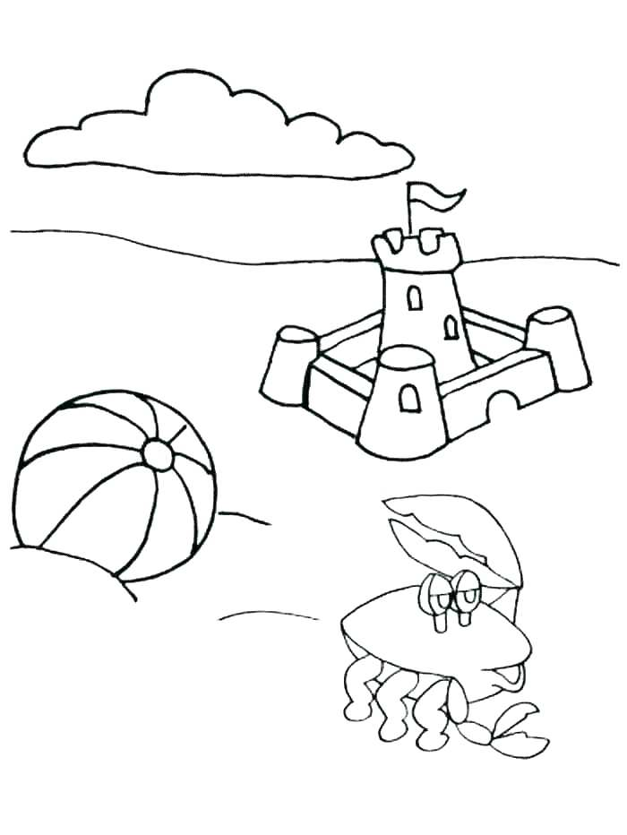 700x932 Coloring Pages For Summer Coloring Pages Summer Beach Coloring