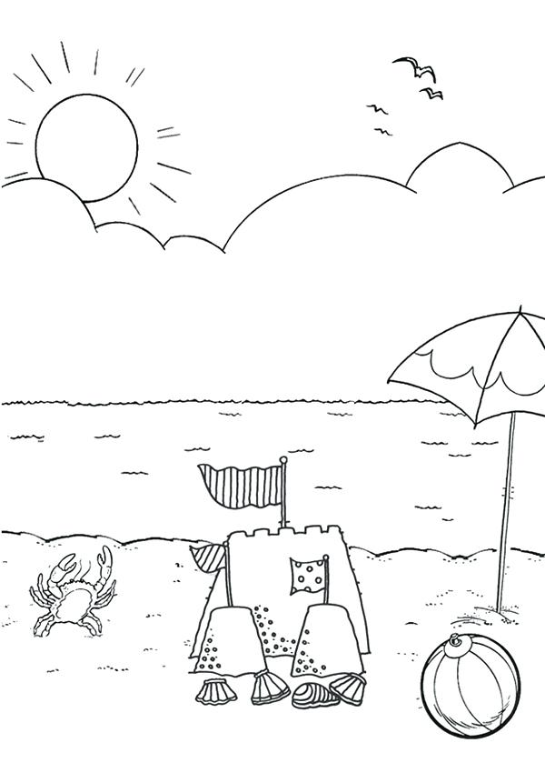 600x850 Free Online Beach Colouring Page Kids Activity Sheets Free Online