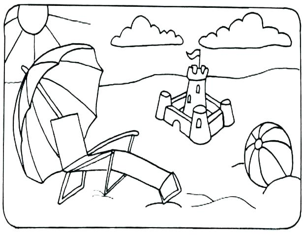 618x478 Free Printable Beach Coloring Pages Free Printable Beach Coloring