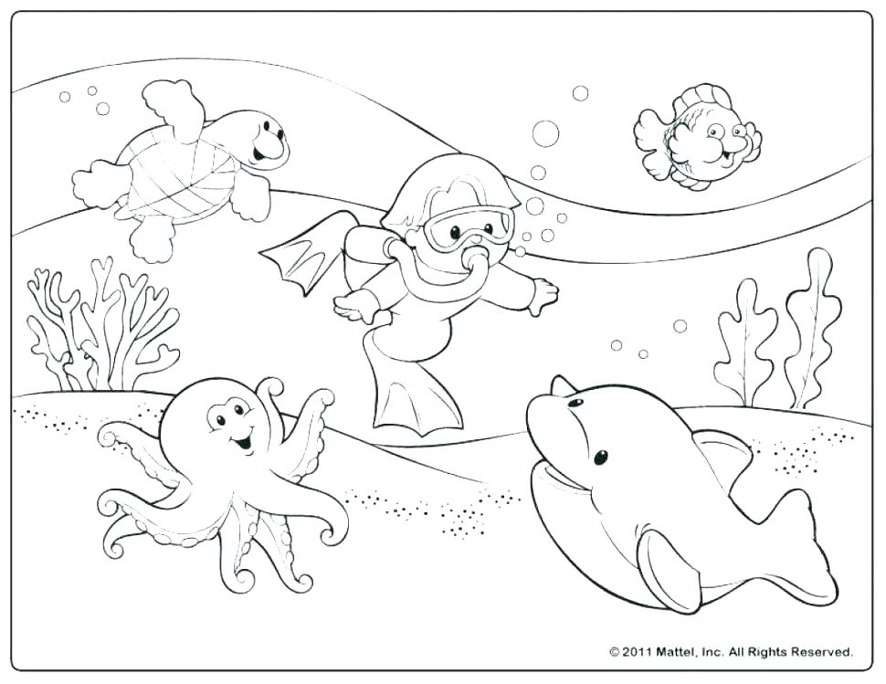 970x749 Kids Coloring Pages Summer Beach Coloring Book Also Summer
