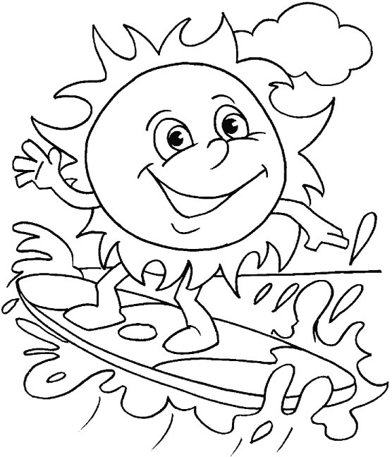 556x648 Printable Beach Coloring Pages