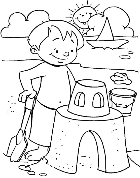 556x706 Summer Beach Coloring Pages Kids