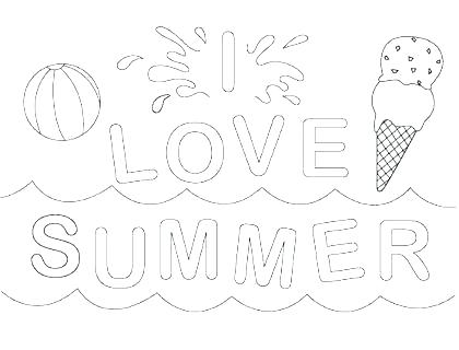 420x320 Summer Coloring Pages Printable Summer Coloring Pages At The Beach