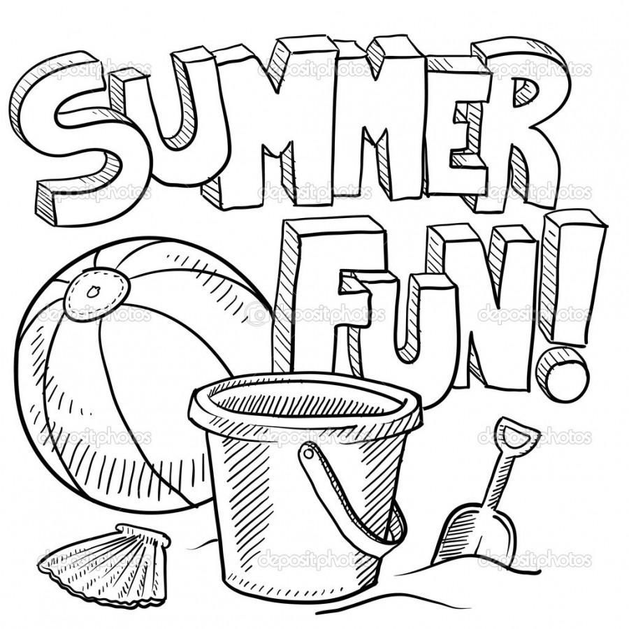 Summer Themed Coloring Pages
