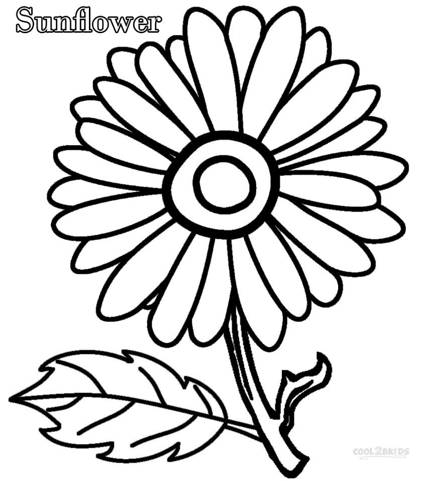 850x957 Printable Sunflower Coloring Pages For Kids Cool2bkids My