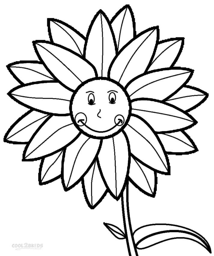 712x850 Printable Sunflower Coloring Pages For Kids Cool2bkids