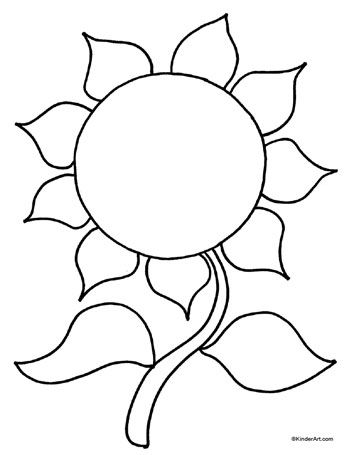 350x455 Sunflower Coloring Page. Printable Pages From Kinderart
