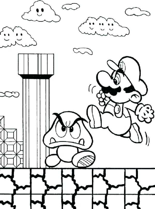 Super Mario Coloring Pages To Print At GetColorings