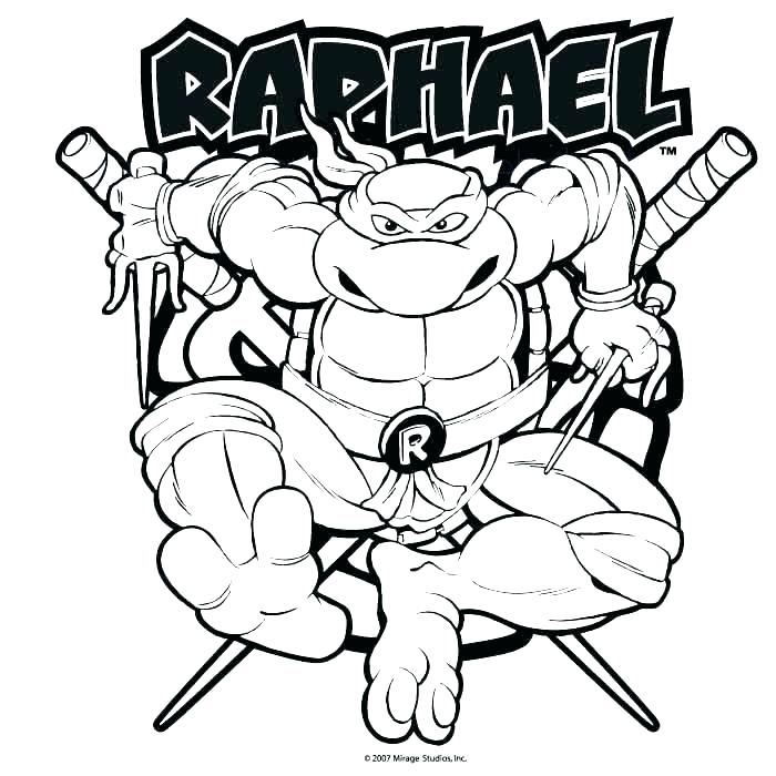 Teenage Mutant Ninja Turtles Michelangelo Coloring Pages At