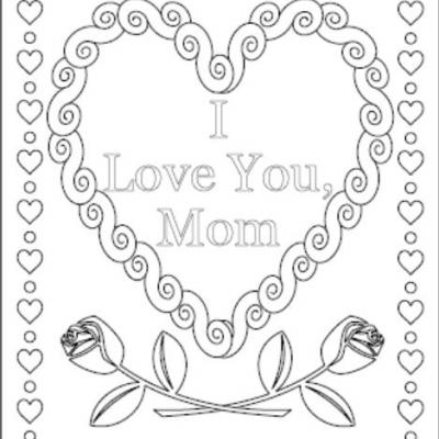 400x400 I Love You Coloring Pages Mommy