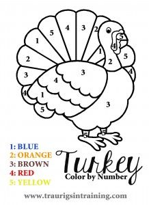 Thanksgiving Coloring Pages By Number