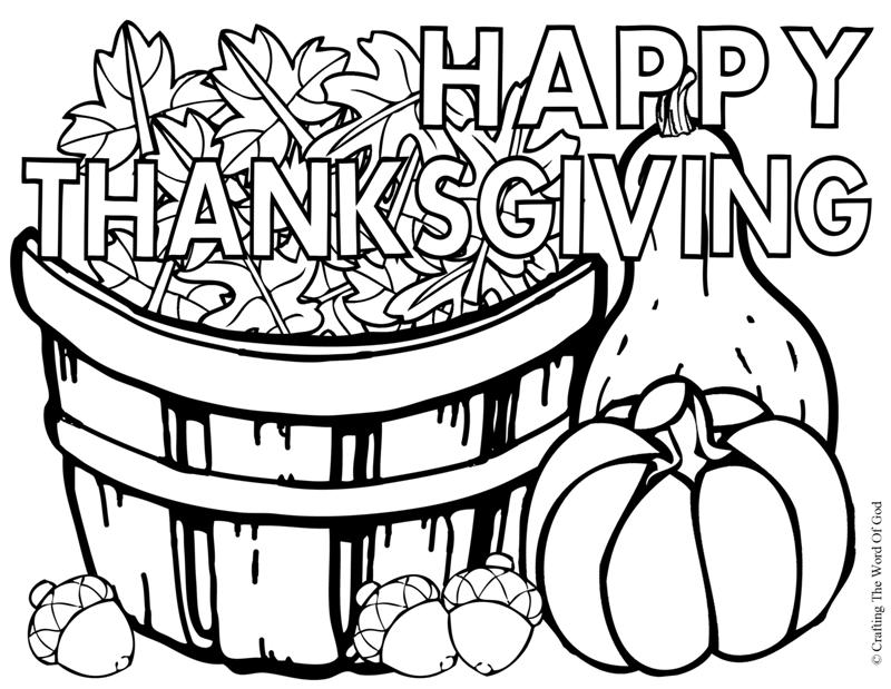 800x619 Happy Thanksgiving 3 Coloring Page Crafting The Word Of God
