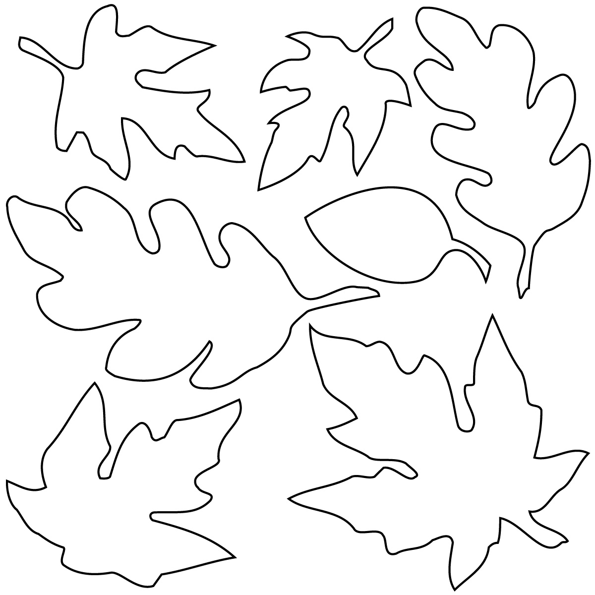 1200x1200 Promising Coloring Pages Of Leaves Free Printa