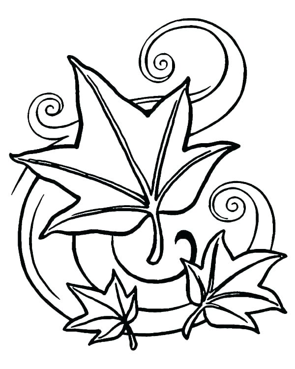 600x750 Thanksgiving Leaves Coloring Pages Festival Collections Leaf