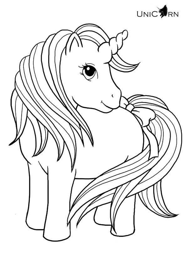 600x840 A Really Cute Girl Unicorn Coloring Page Coloring Pages