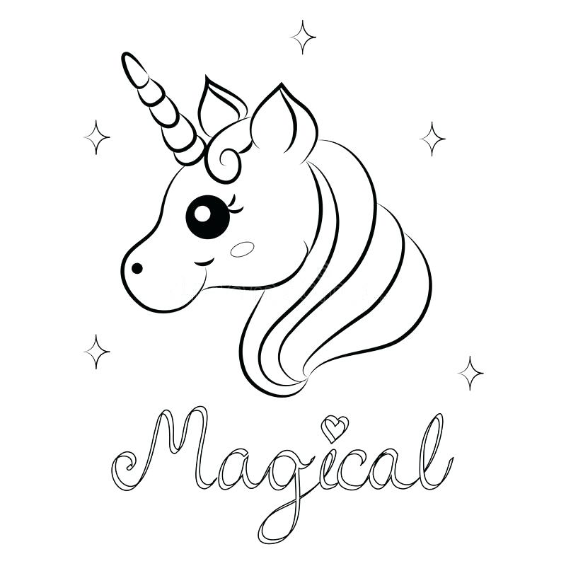 800x800 Printable Baby Unicorn Coloring Pages Cute Cartoon Vector Page