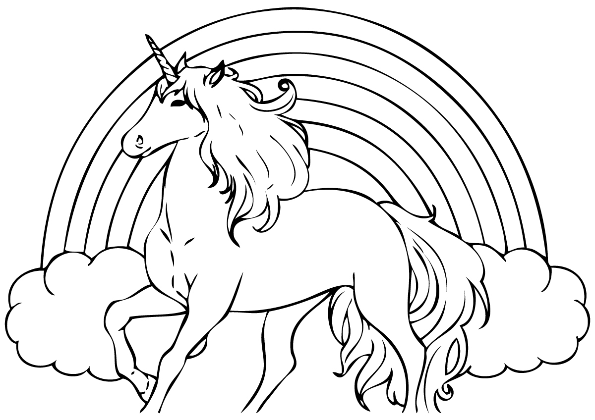 1200x848 Unicorn Coloring Pages