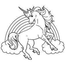 230x230 Unicorn Coloring Page Coloring Pages Unicorns