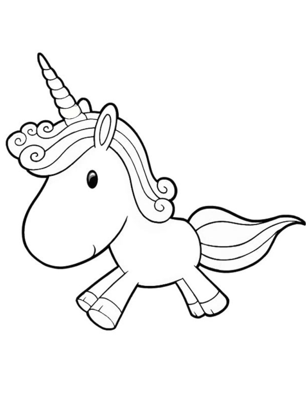 1040x1344 Cartoon Unicorn Coloring Page Amp Coloring Book