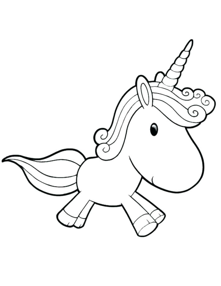 711x920 Cute Unicorn Coloring Pages Printable