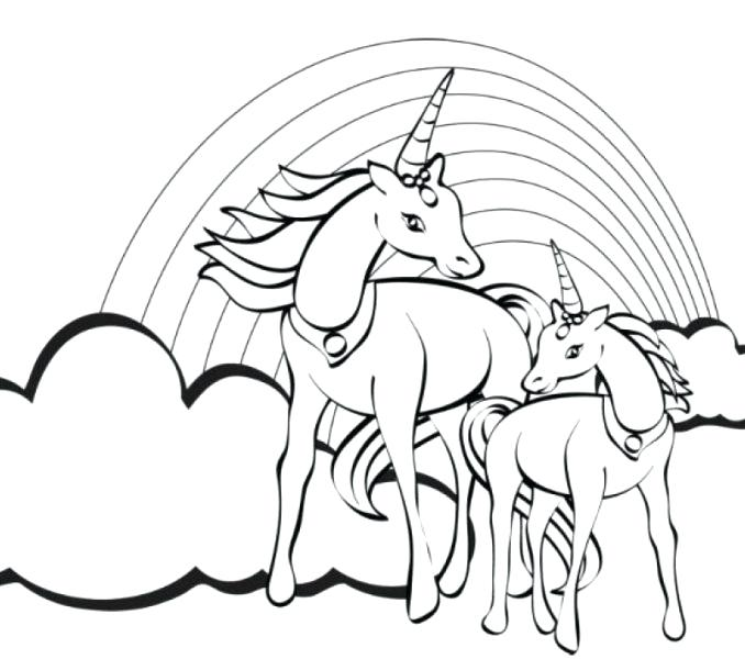 678x600 Fresh Rainbow Unicorn Coloring Pages 64 For Your Free Coloring