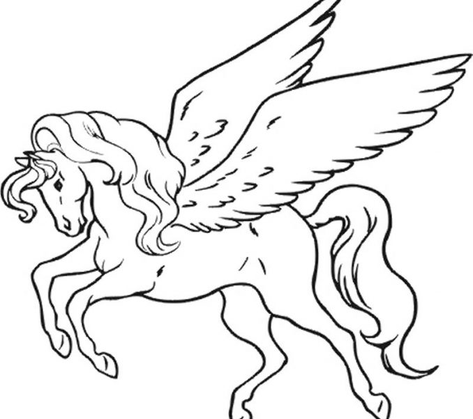 678x600 Pictures Of Unicorns To Colour In Unicorn Coloring Pictures 8421