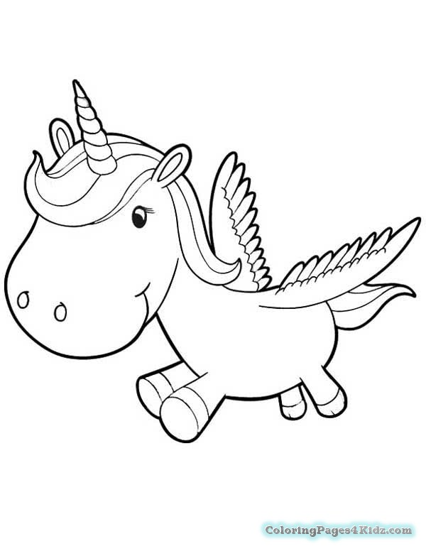 Unicorn Coloring Pages Cute