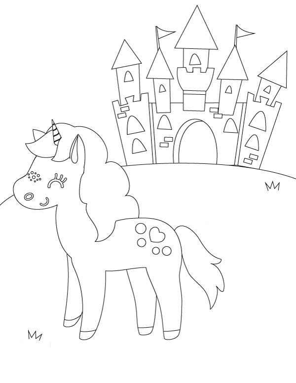 Unicorn Coloring Pages For Girls