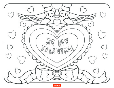 396x306 15 Valentine's Day Coloring Pages For Kids Shutterfly