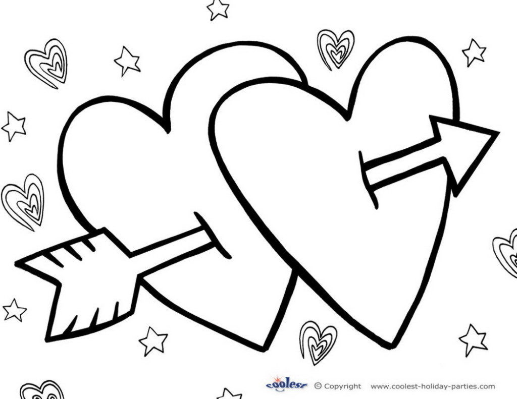 1024x791 Top 45 Free Printable Valentines Day Coloring Pages Online