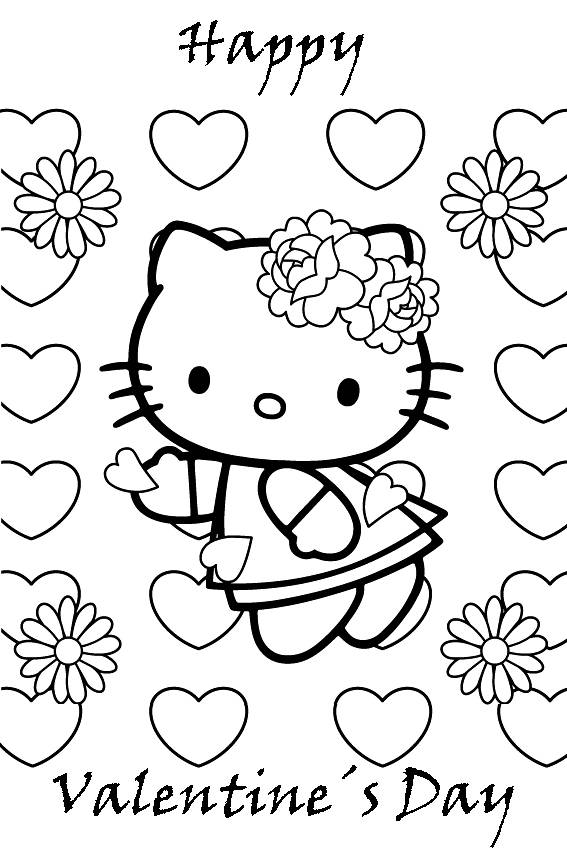 567x850 Baby Cupid Valentines Coloring Pages