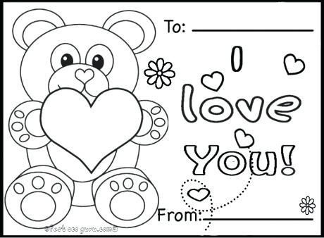 460x338 Valentines Day Bear Coloring Pages Fresh Mini 5