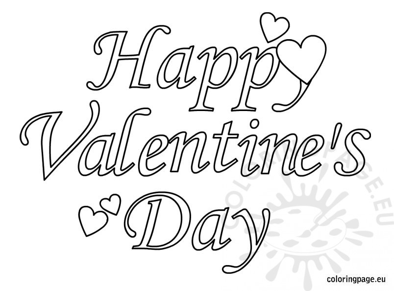 804x595 Valentines Day Colouring Pages Printable Happy Valentines Day1