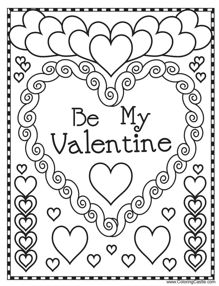 Valentines Day Free Printable Coloring Pages