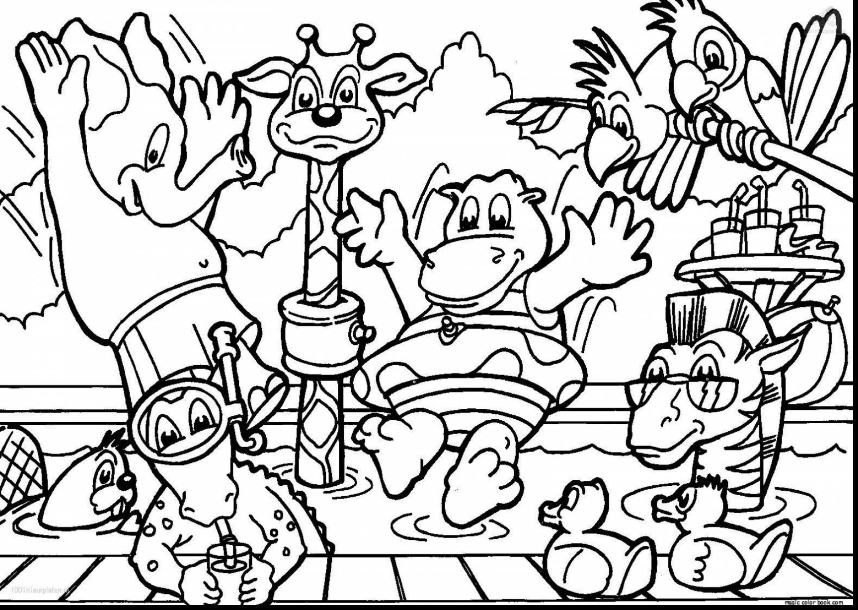 1727x1228 Complete Zoo Coloring Pages To Print Confidential Cartoon Animals