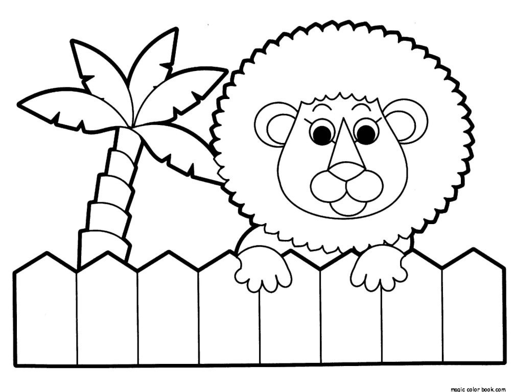1008x768 Lion Zoo Coloring Pages Online Free Printable