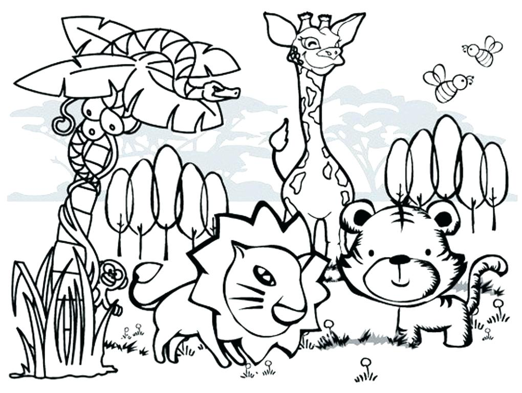 1020x768 Animal Coloring Book Pages Coloring Pages Of Zoo Animals Easy