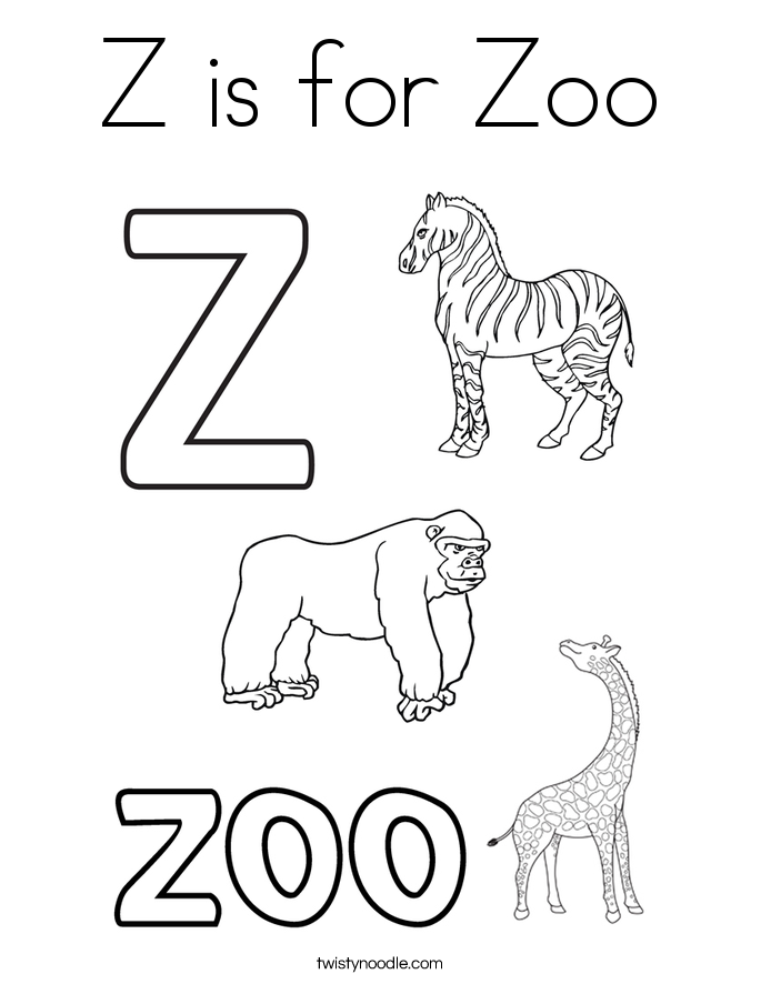 685x886 Z Is For Zoo Coloring Page