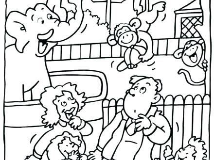 440x330 Zoo Coloring Page Best Zoo Coloring Page Online Pages Animals