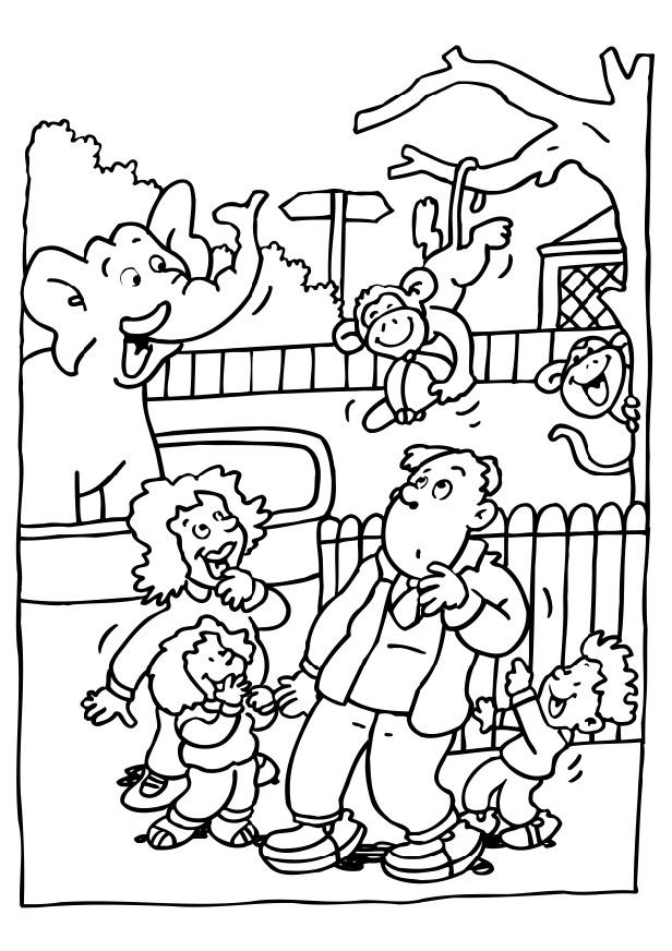 616x872 Zoo Coloring Pages For Preschoolers Coloring Page Visiting