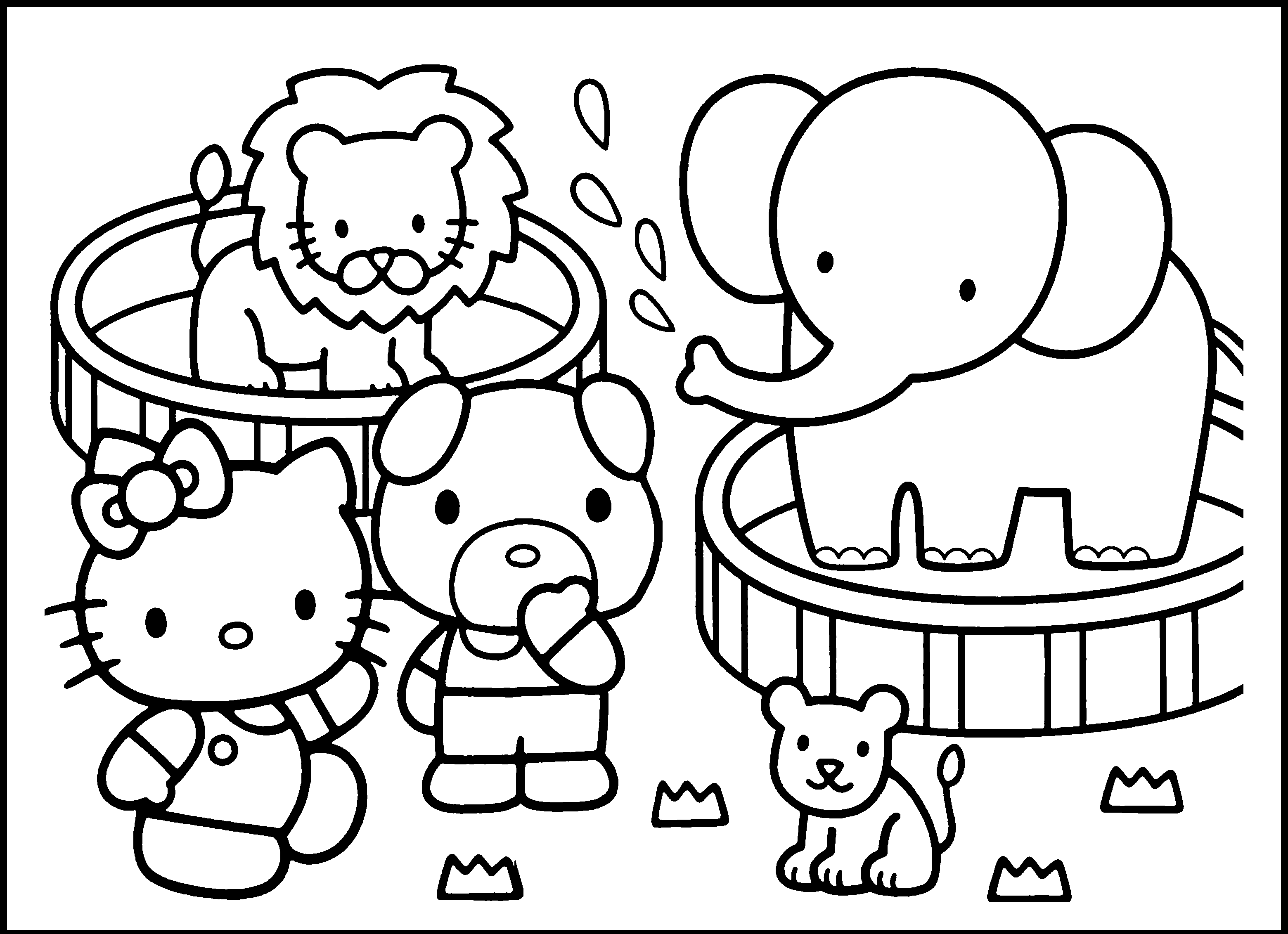 3120x2263 Coloring Pages Of Zoo Animals 7