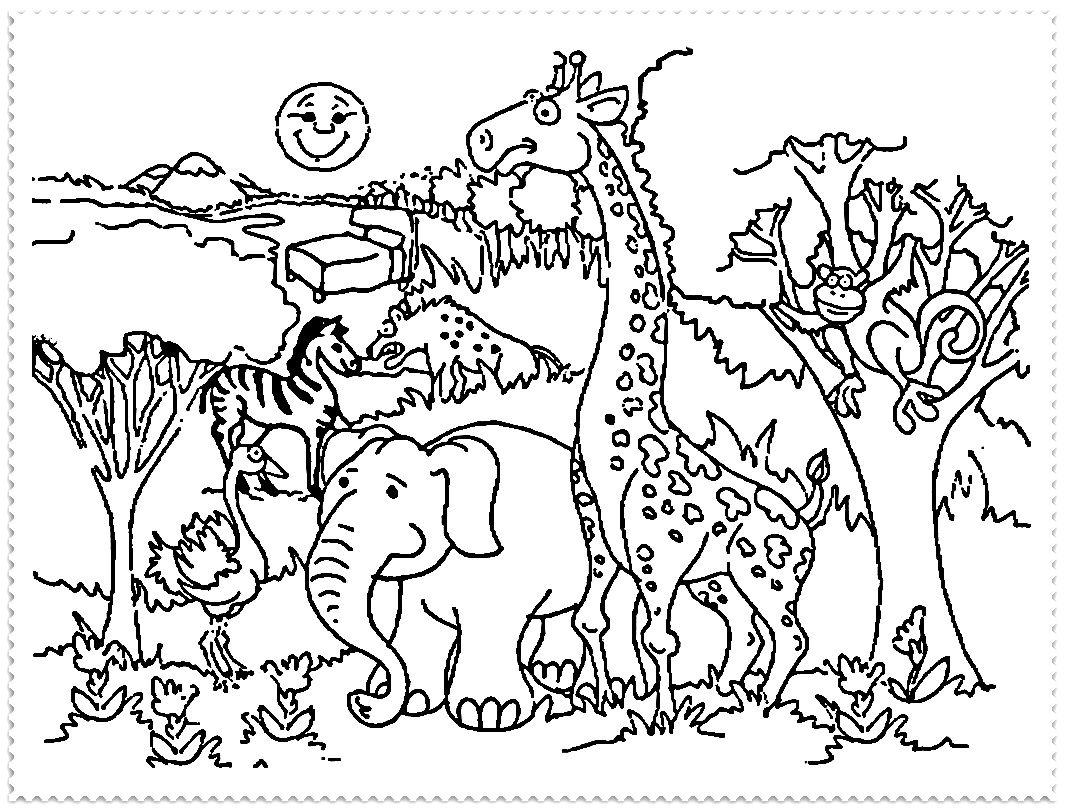 1066x810 Coloring Pages Outstanding Zoo 2